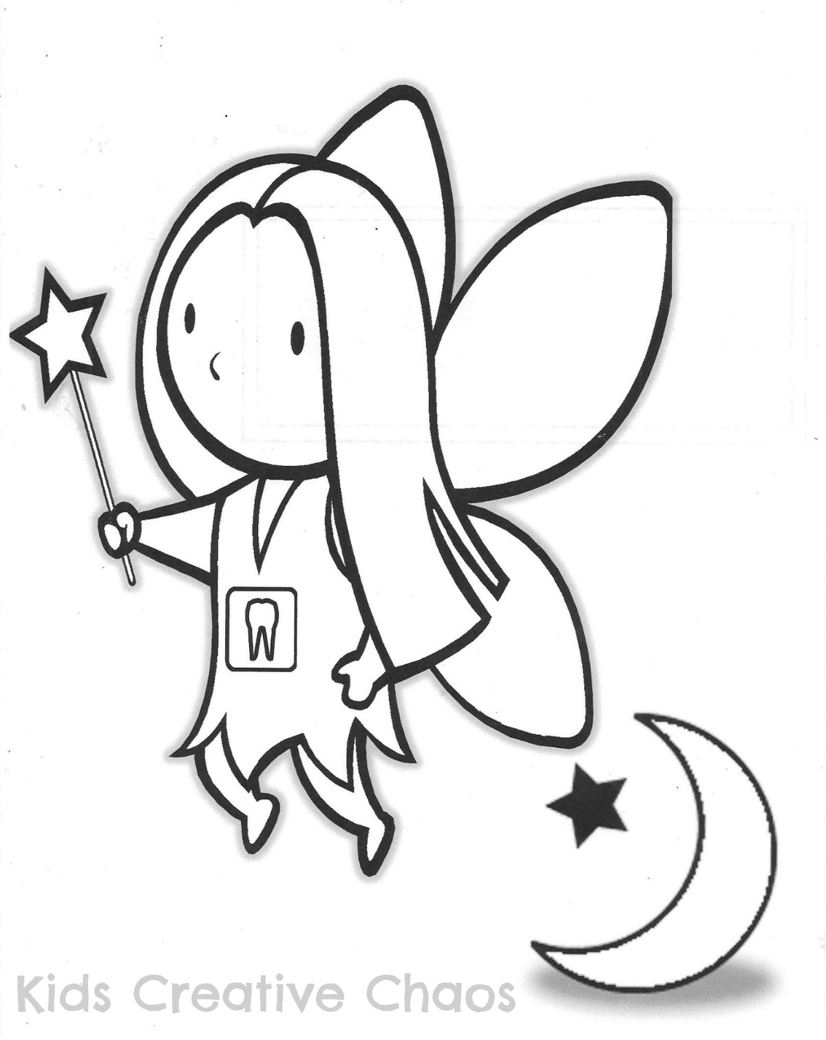 Tooth fairy black and white clipart clipart suggest for Tooth fairy coloring pages printable