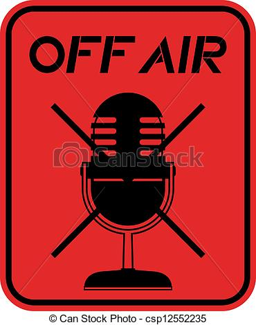 Sign   Creative Design Of Off Air Sign Csp12552235   Search Clip Art
