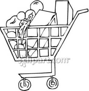 Supermarket Black And White Clipart - Clipart Suggest