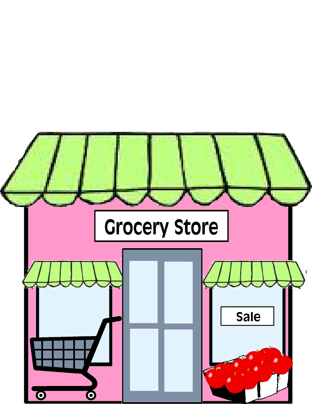 Clip Art Supermarket Clipart supermarket clipart kid building shop grocery