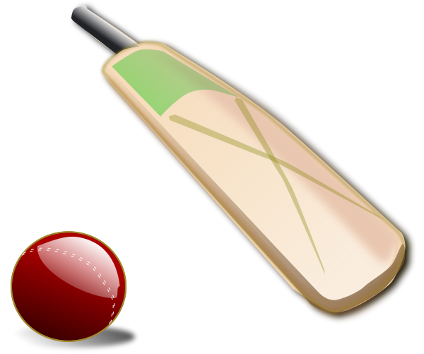 This Cricket Bat And Ball Clip Art Is Perfect For Use On Your Cricket