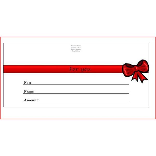 Make Your Own Gift Voucher Template. Printable Gift Certificate ...