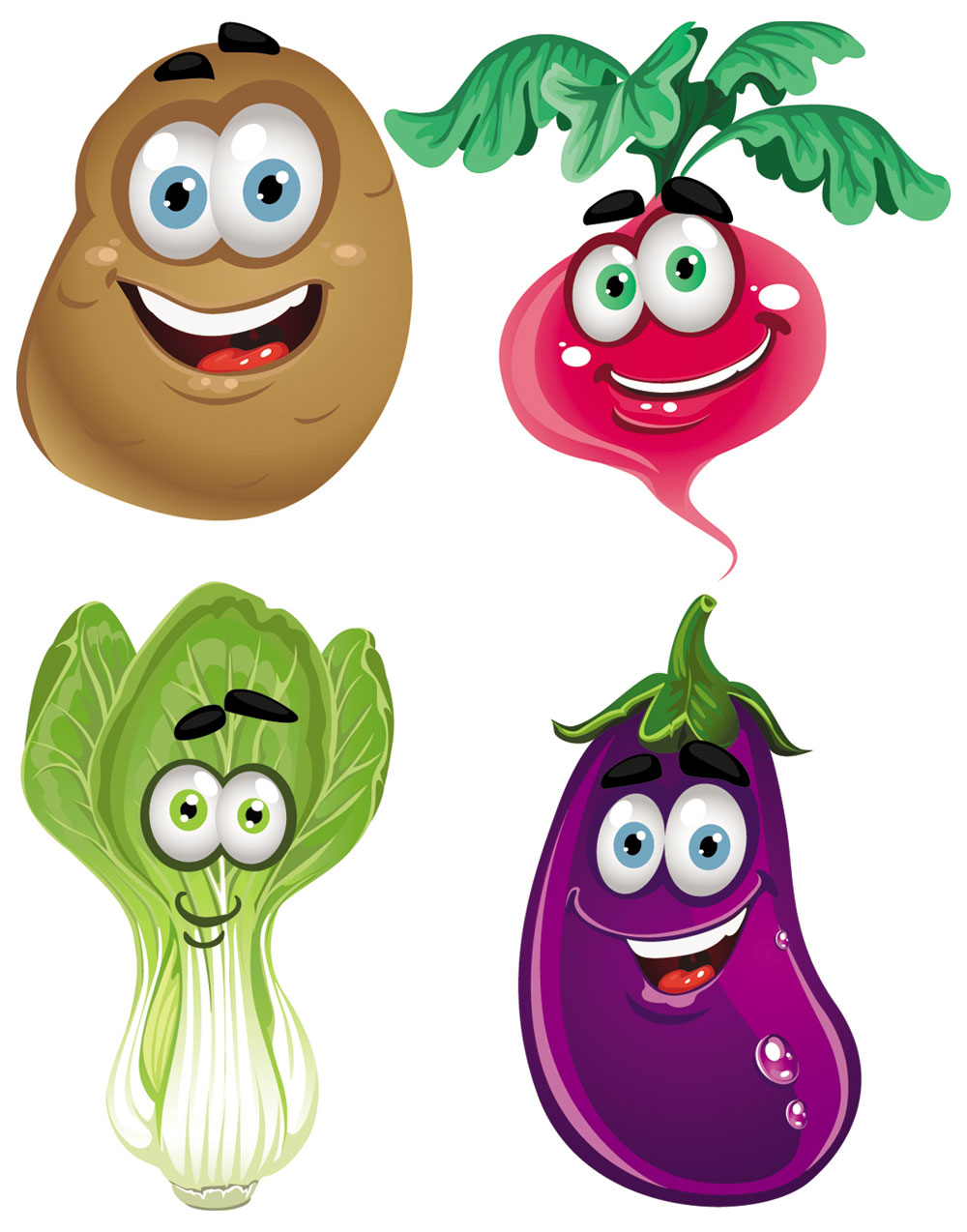 Vegetable Cartoon Image Vector 2   Download Free Vectors