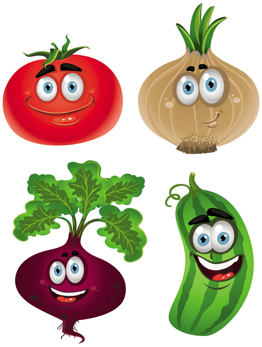 Vegetable Cartoon Image Vector 5   Download Free Vectors