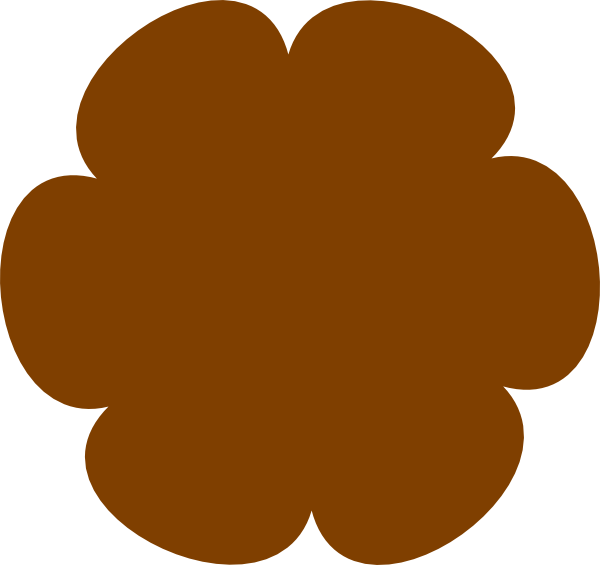 Black Flower 3 Clip Art At Clker Com: Brown Flower Clipart