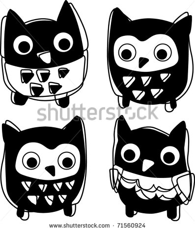 Cute Animal Icon Silhouette Vector Illustration Stock Vector