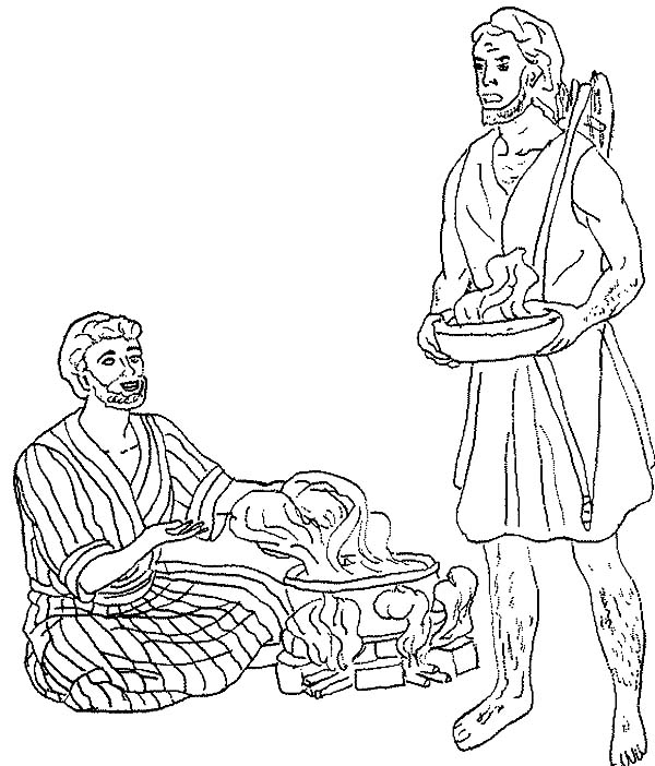 File Name   Esau Want A Bowl Of Stew In Jacob And Esau Coloring Page