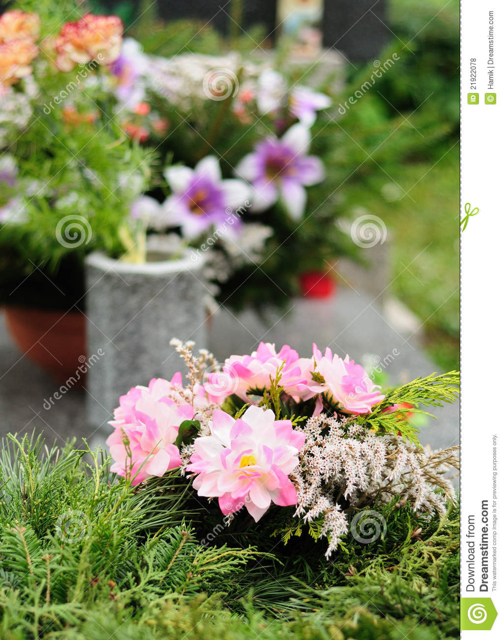 Funeral Flowers Royalty Free Stock Photos   Image  21922078