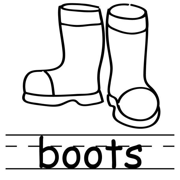 Historical Clipart Of Drizzle Boots   Coal Black And Snowy Plan Out