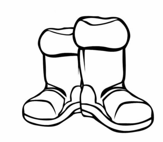 Snow Boots Coloring Pages   Only Coloring Pages