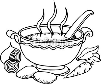Tureen Of Soup And Some Vegetables Stock Photo And Royalty Free
