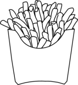 Black And White French Fries Clipart - Clipart Kid