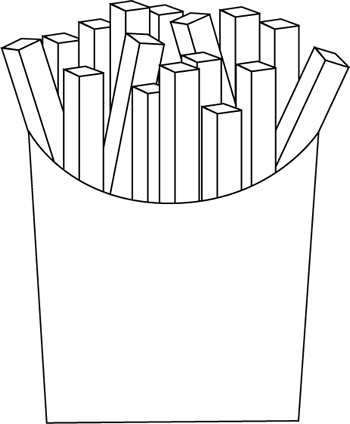 Black And White French Fries Clip Art   Black And White French Fries