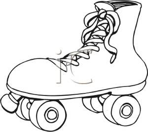 Skateboard Clip Art Black And White Rollerblades Black And...