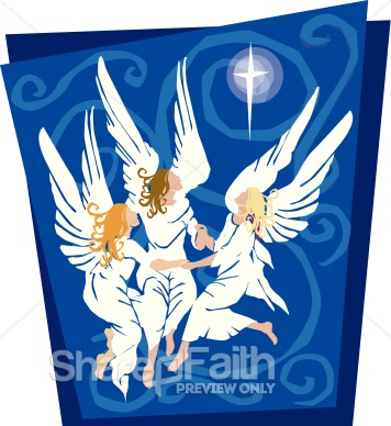 Christmas Clipart Angels Announcement   Angel Clipart