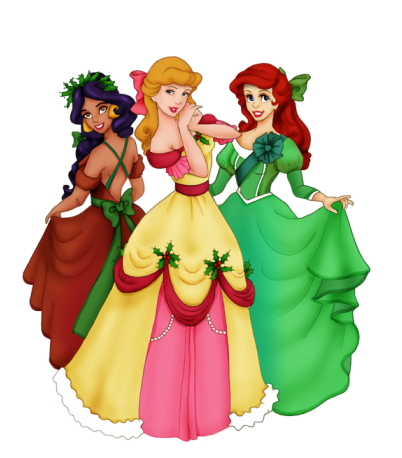 Christmas Disney Princesses Jpg