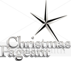 Christmas Pageant Announcement   Christian Christmas Word Art