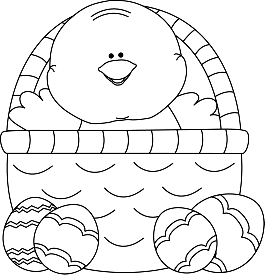 easter basket black and white clipart clipart suggest