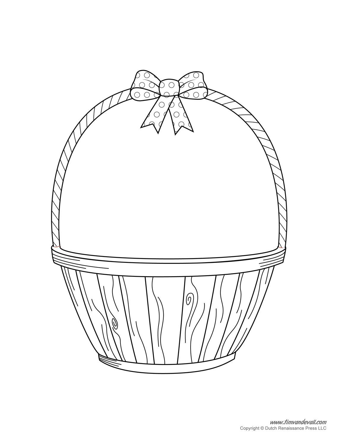 White Basket Clipart : Easter basket black and white clipart suggest
