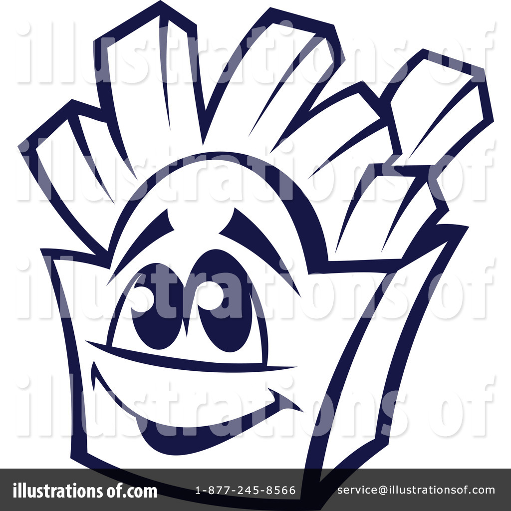 French Fries Clipart Black And White Royalty Free  Rf  French Fries