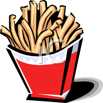 French Fries In A Carton   Royalty Free Clip Art Illustration