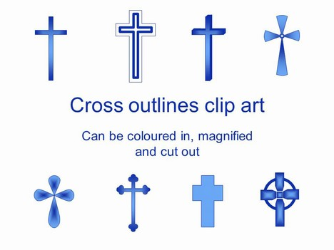 Here Is A Range Of Cross Outline Clip Art Which Is In Powerpoint