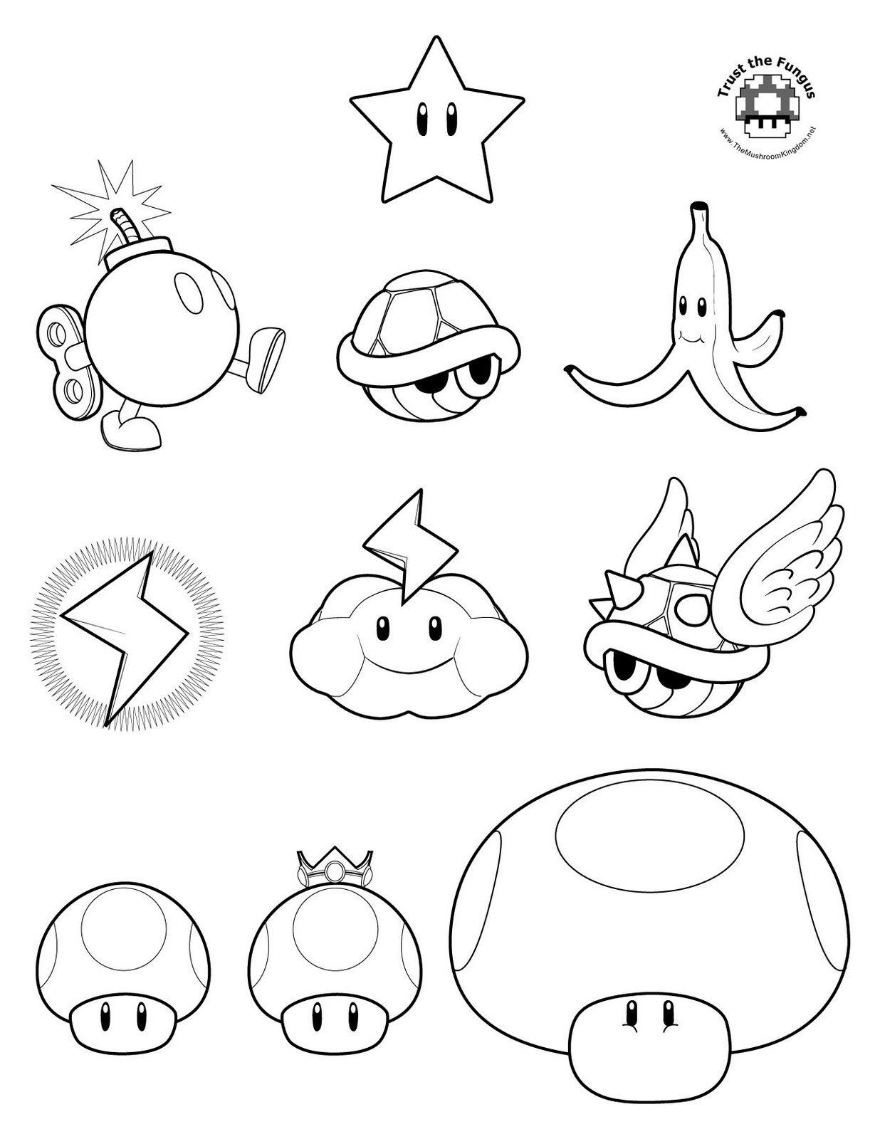 Mario To Color Clipart - Clipart Kid