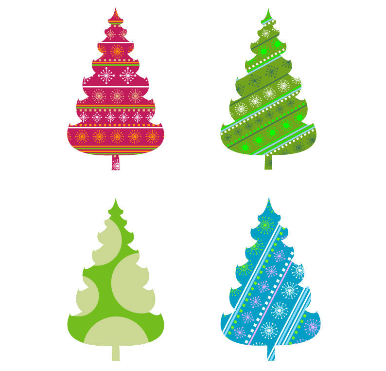 Modern Christmas Tree Png Abstract Christmas Tree Vector