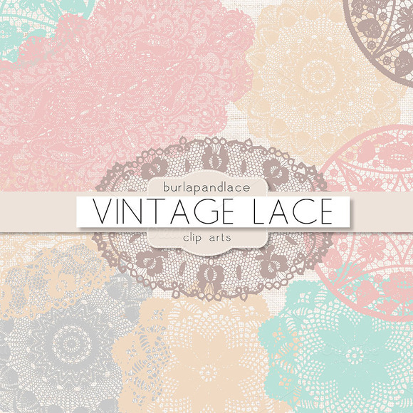 Pastel Doilies Lace Clipart   Illustrations On Creative Market