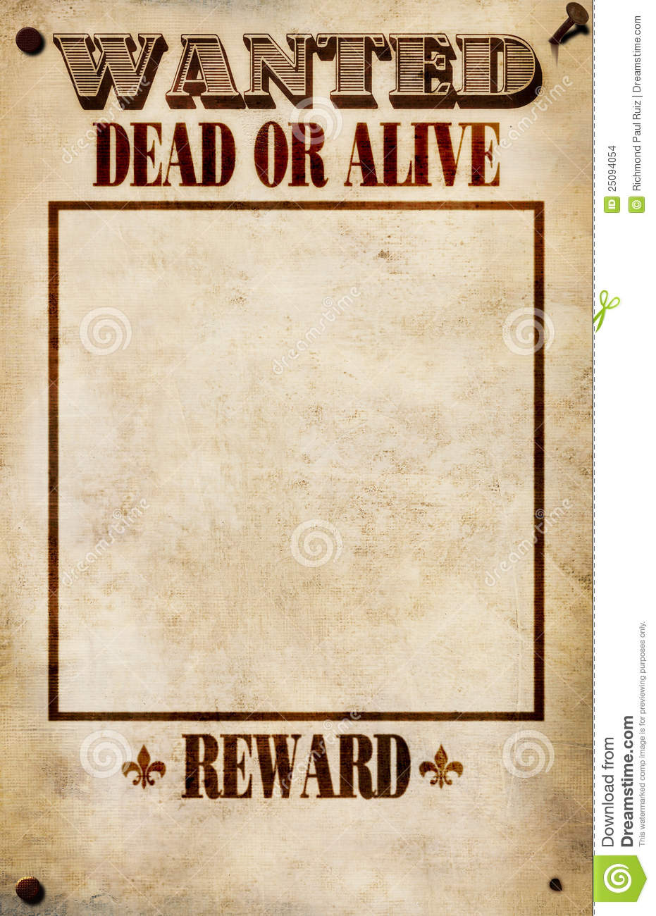 Blank Wanted Poster Clipart Clipart Kid – Picture of a Wanted Poster