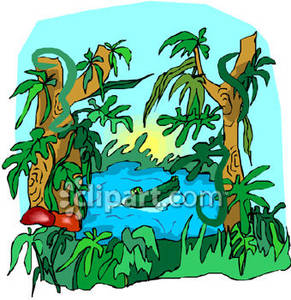 Clip Art Rainforest Crocodile Clipart - Clipart Kid