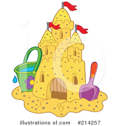 Royalty Free  Rf  Sand Castle Clipart Illustration By Visekart   Stock