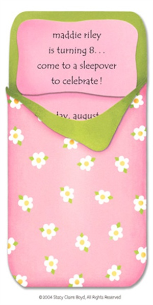 Sleep Bag Invite   Pops Of Pink Ella   Pinterest