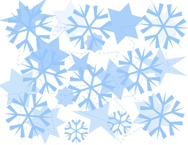 Snowflake Design Background  Christmas Or Winter Graphic Background Of