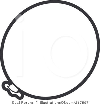 Black And White Single Balloon Clipart   Clipart Panda   Free Clipart
