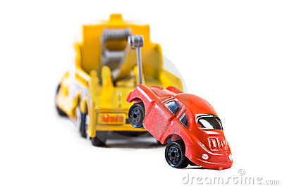 Car Behind Trowtruck  2  Stock Photo   Image  6272690