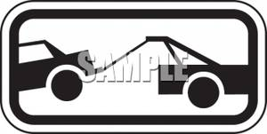 Car Being Towed By A Tow Truck   Royalty Free Clipart Picture