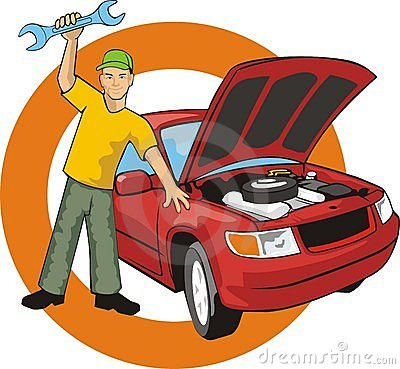 Car Master With Wrench Fixed A Car