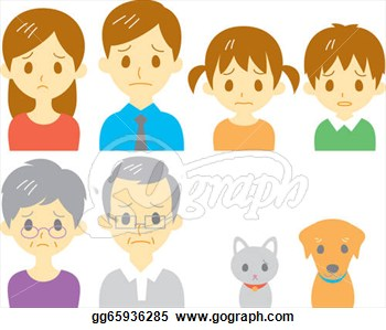 Clipart Family Members Faces Family Sad Expression