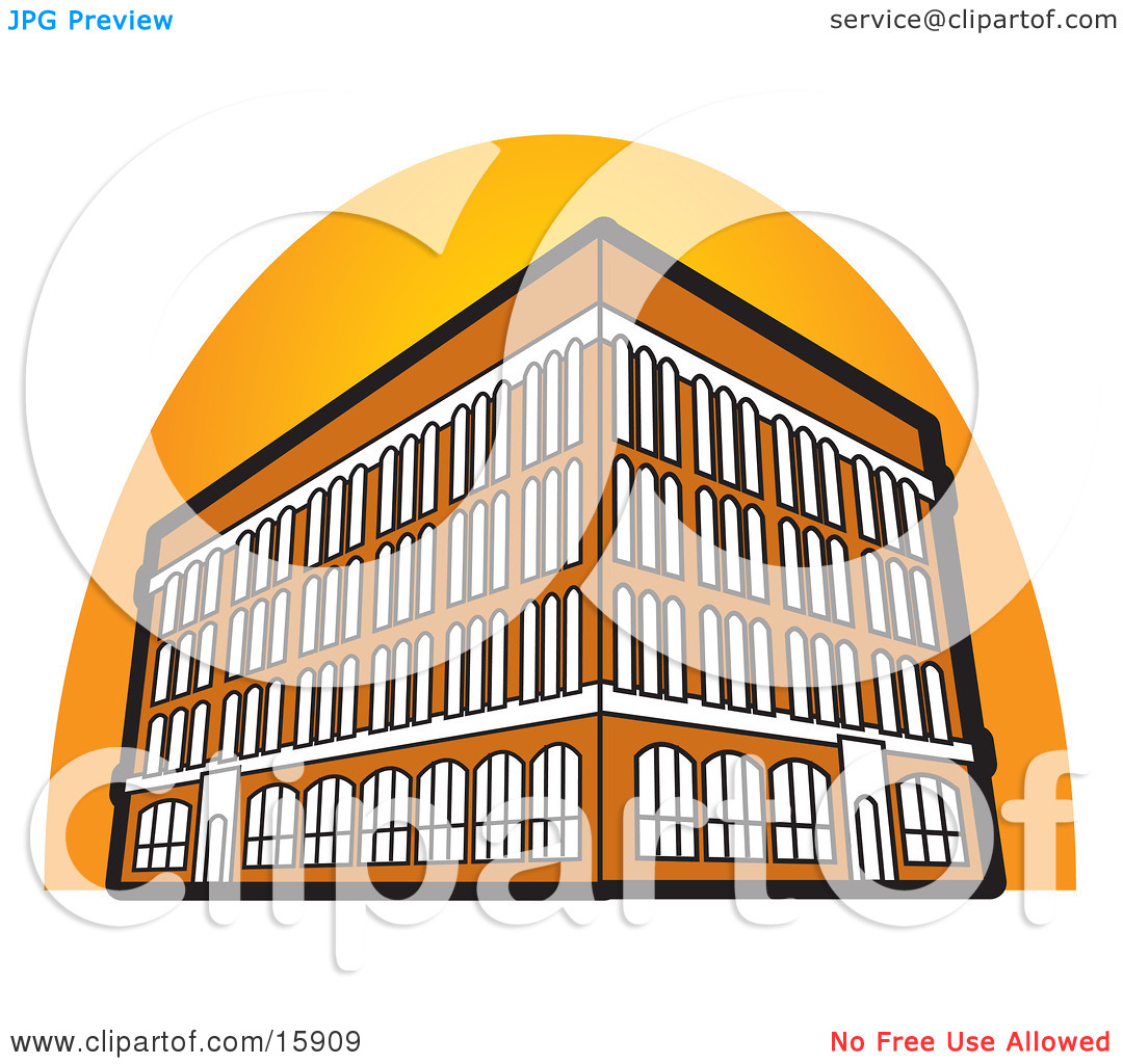 Commercial Building With Four Floors Clipart Illustration By Andy