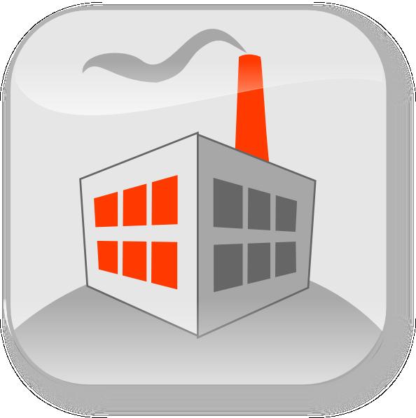 Commercial Factory Building Clip Art At Clker Com   Vector Clip Art