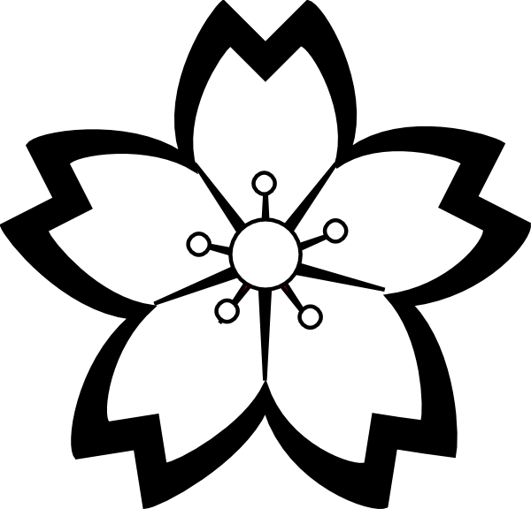 Flower Clip Art Black And White   Clipart Panda   Free Clipart Images