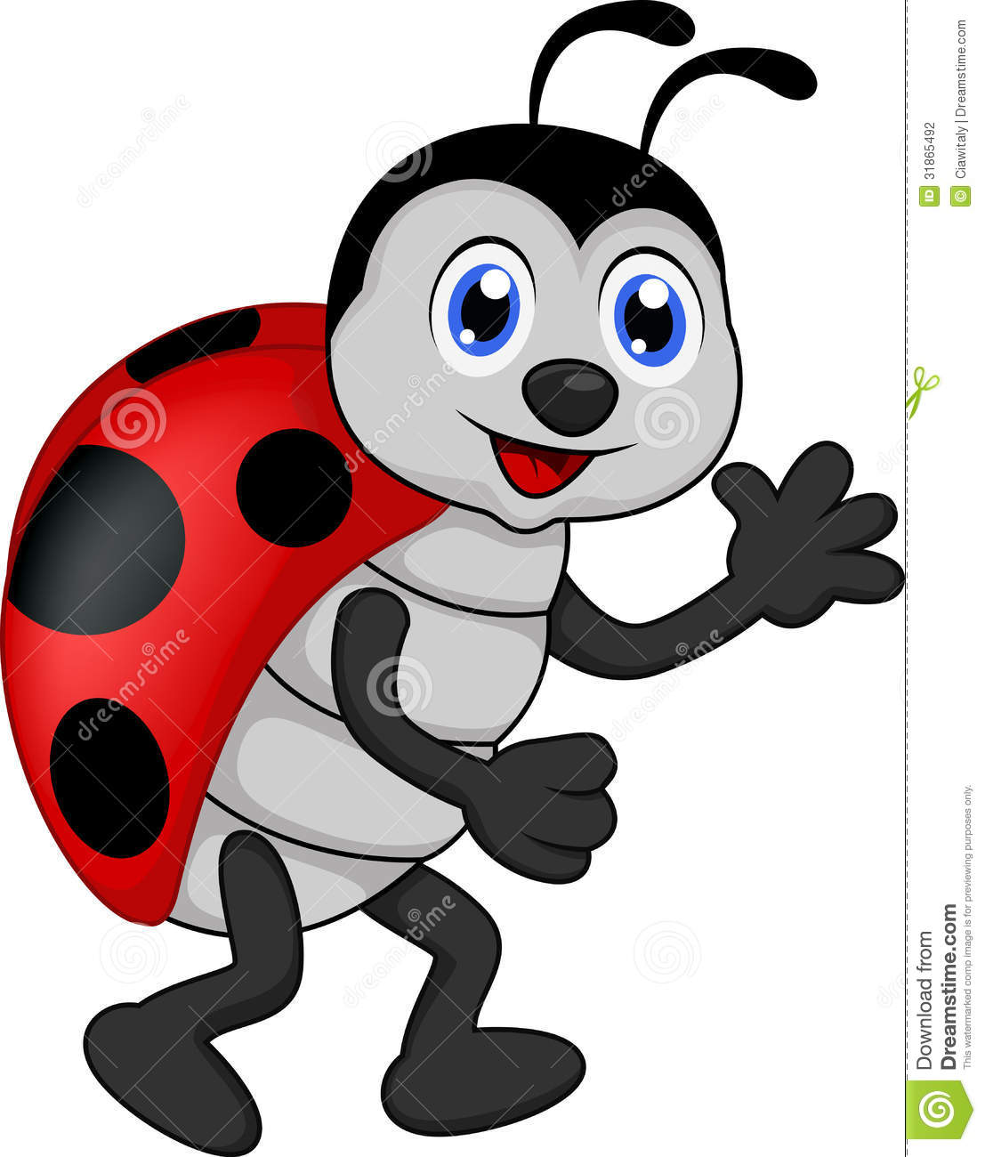 Funny Lady Bug Cartoon Stock Photography   Image  31865492