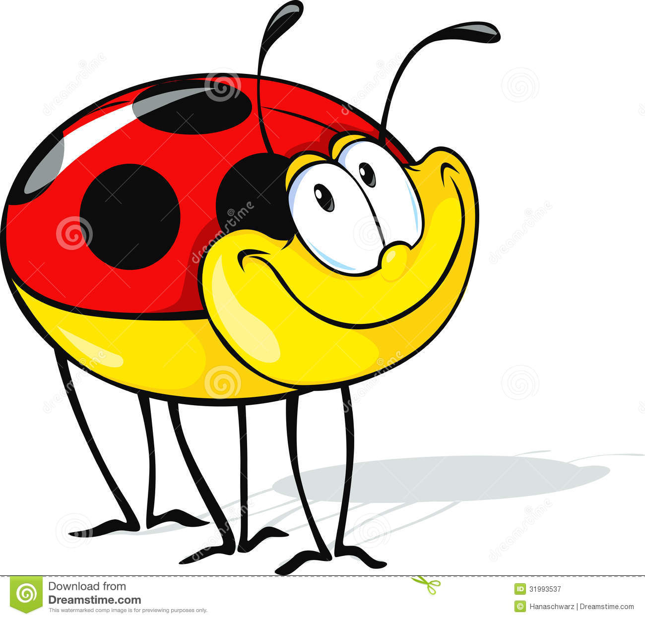 Funny Ladybug Cartoon Royalty Free Stock Photography   Image  31993537