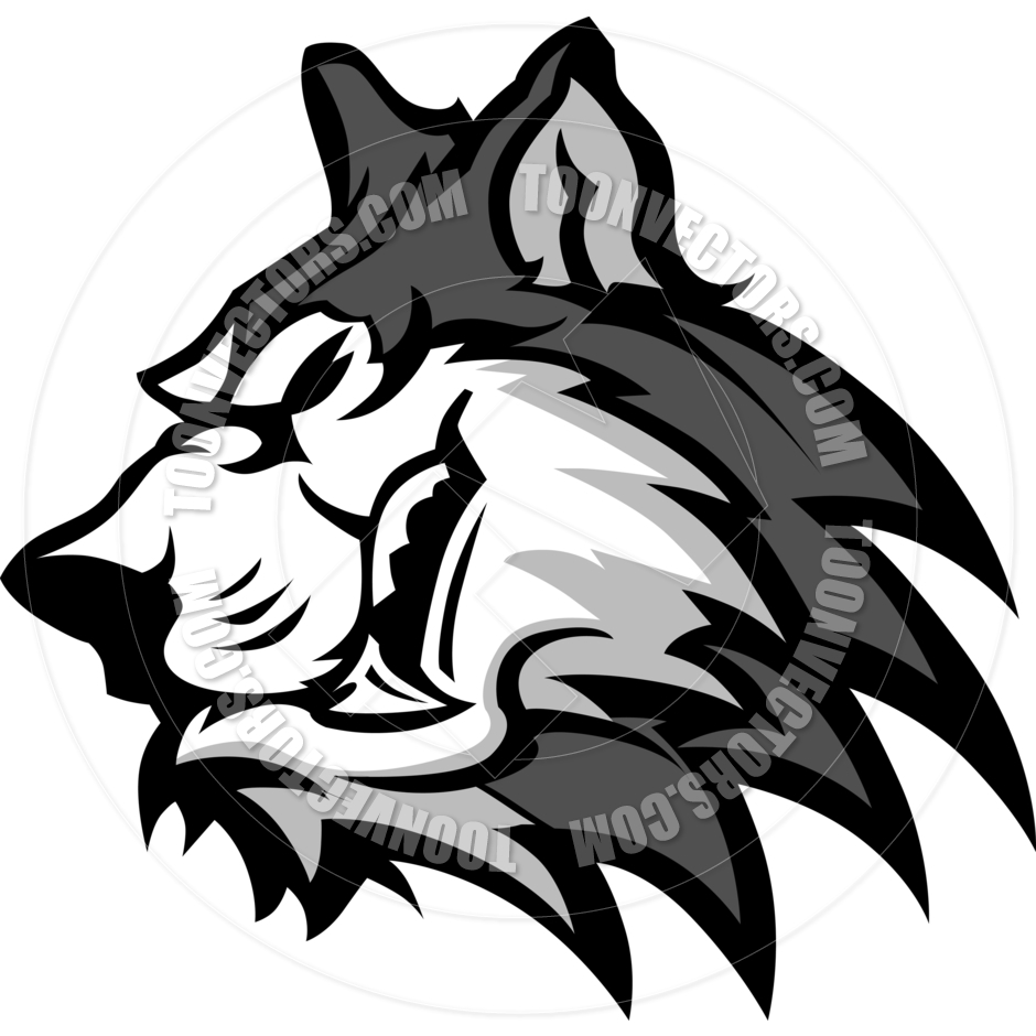 Husky Or Wolf Mascot Vector Graphic By Chromaco   Toon Vectors Eps