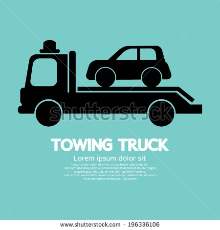 Images Similar To Id 63283378   Car Being Towed Retro Clipart