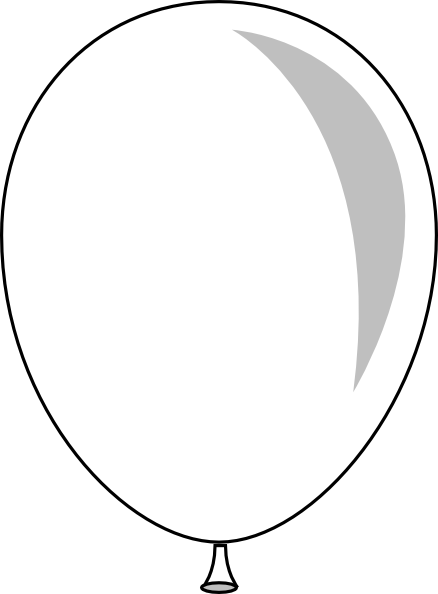 Single Balloon Black And White Clipart - Clipart Suggest