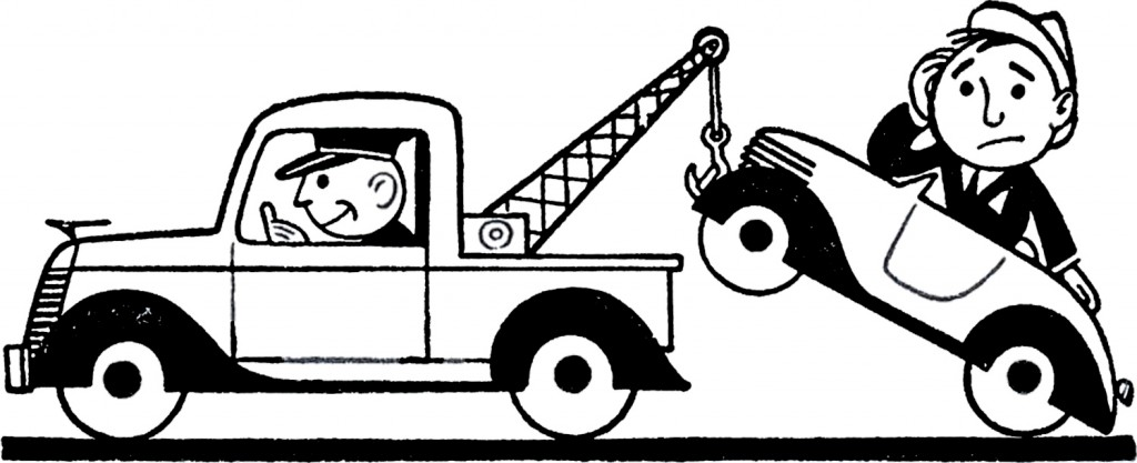 Retro Car Trouble Clip Art   The Graphics Fairy