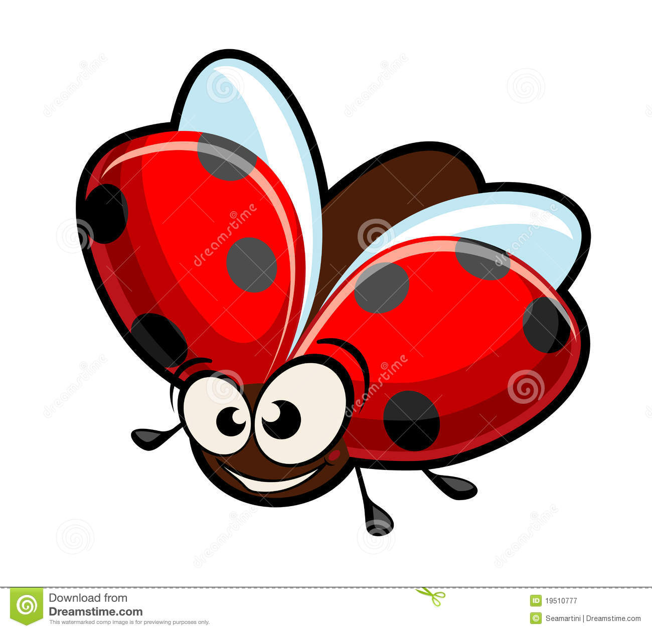 Royalty Free Stock Photography  Funny Cartoon Ladybug