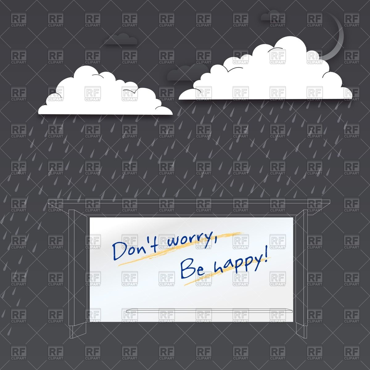 Shelter In The Rainy Night Download Royalty Free Vector Clipart  Eps